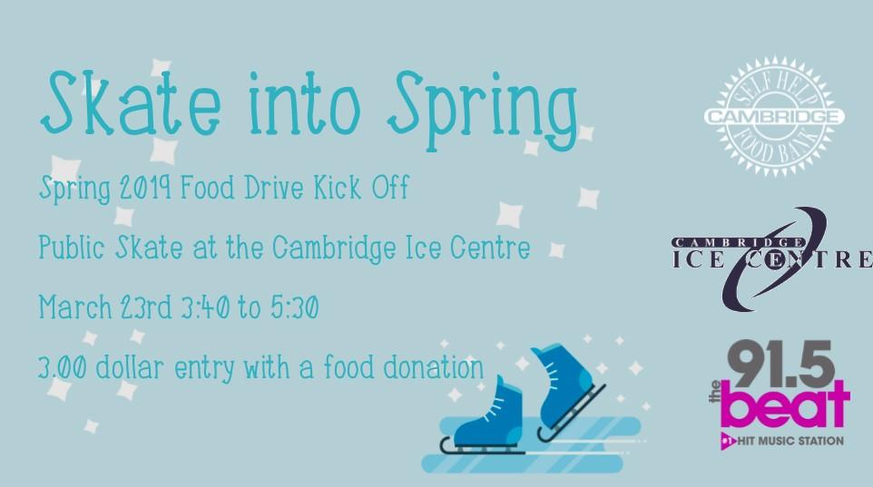 Skate Into Spring: Spring Food Drive 2019 Kick-Off